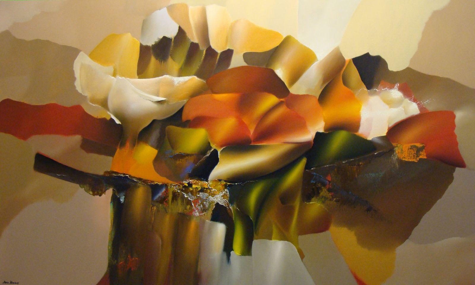 Arie koning groot abstract schilderij kopen for Moderne schilderkunst