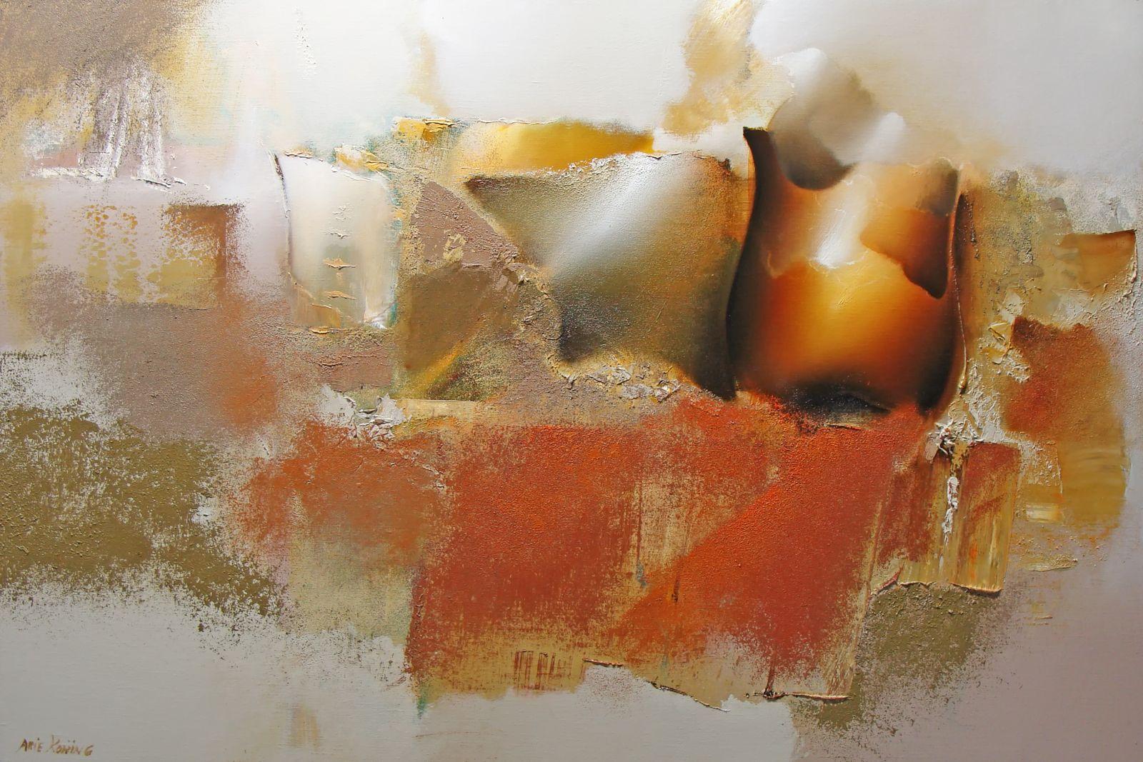 Arie koning over olieverf schilderijen met warme kleuren en zachte