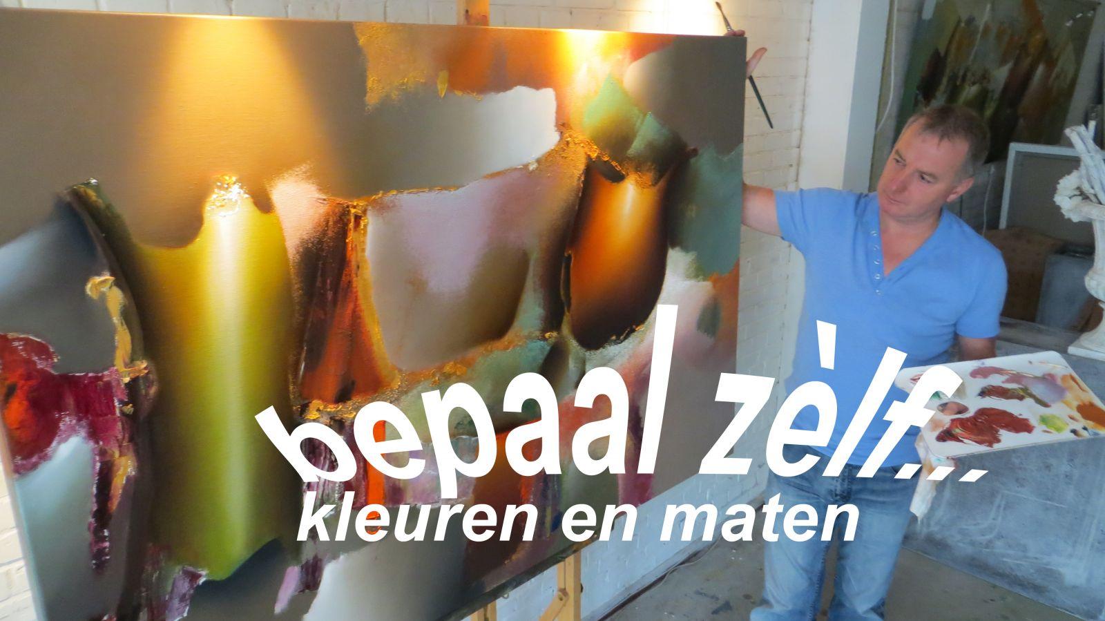 Arie koning abstracte bloemenschilderijen met mooie warme kleuren - Lijst van warme kleuren ...